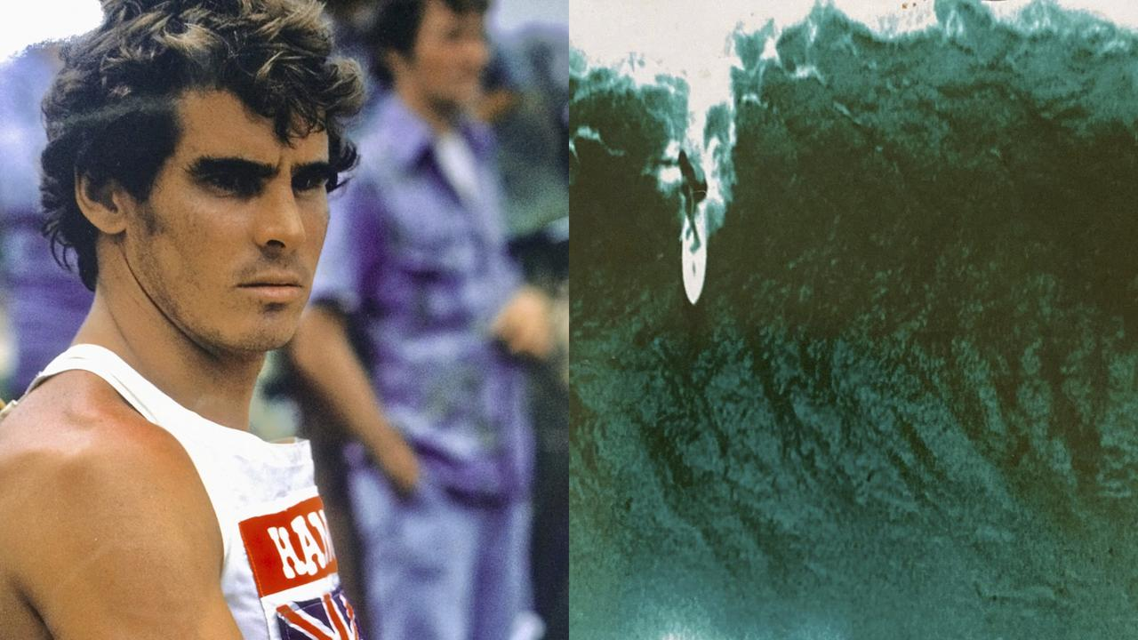 A 21-year-old Gold Coast big wave champion Paul Neilsen in Hawaii, 1972. Picture: Neilsen family collection.