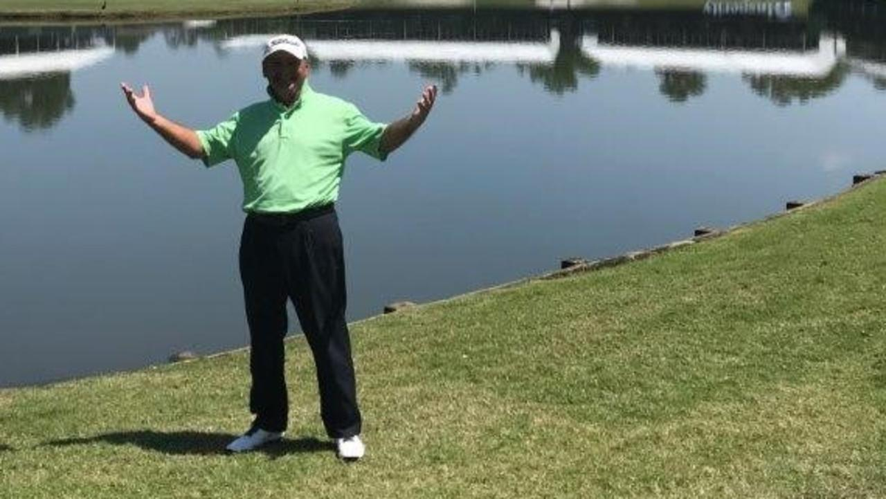 Brad Burns at the course in Houston in 2018