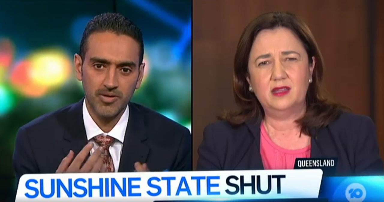 The Project's Waleed Aly interviewing Annastacia Palaszczuk on Monday.