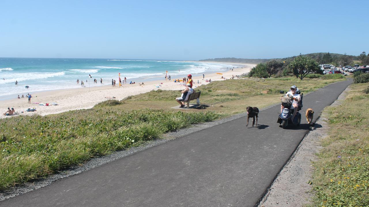 The Coastal Recreational Path at Sharpes Beach.