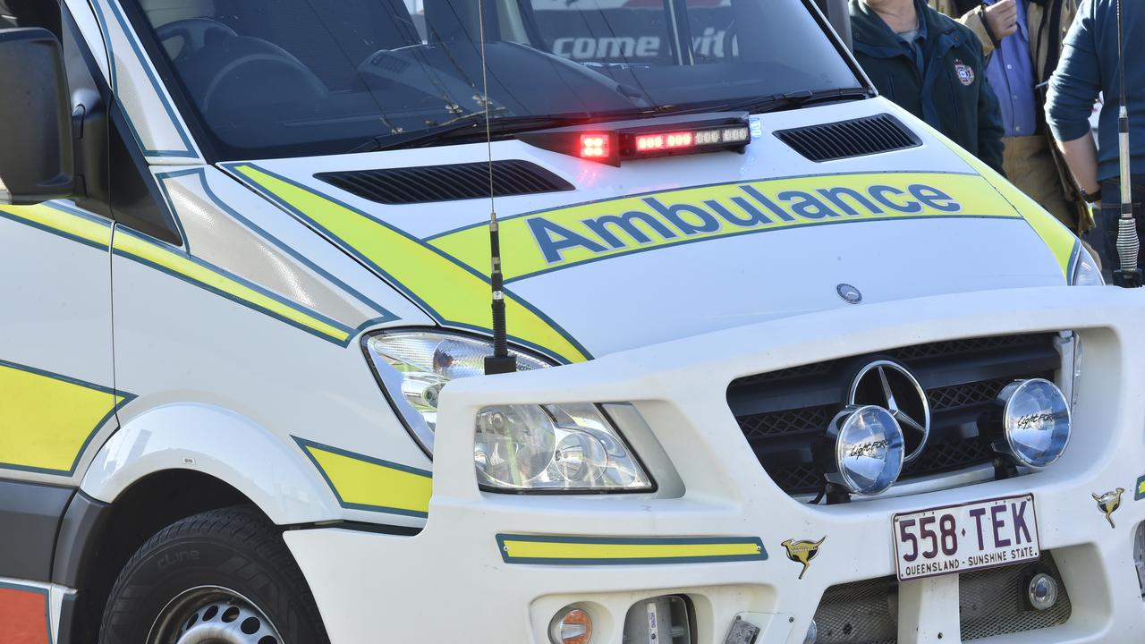 A woman was taken to Bundaberg Hospital after a crash this morning in Bundaberg Central.