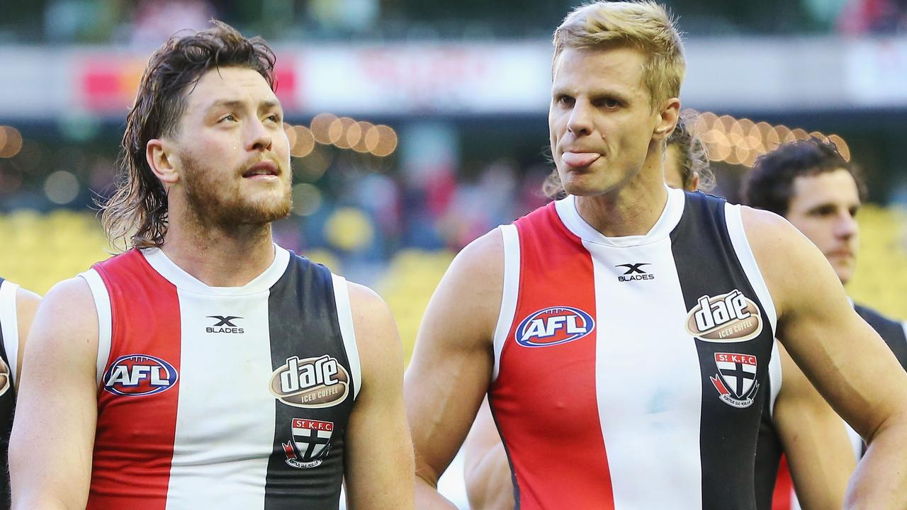 Nick Riewoldt captained Jack Steven at St Kilda for nine years. Picture: Getty Images