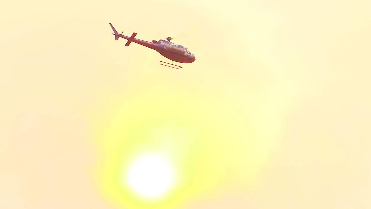 Aerial fire fighting at Nana Glen in 2019. Photo Frank Redward