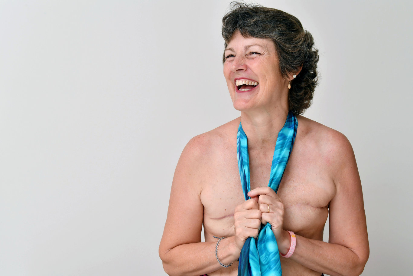 Tiana Fry, who had a double mastectomy talks about her life following cancer treatment. Picture: Tony Martin