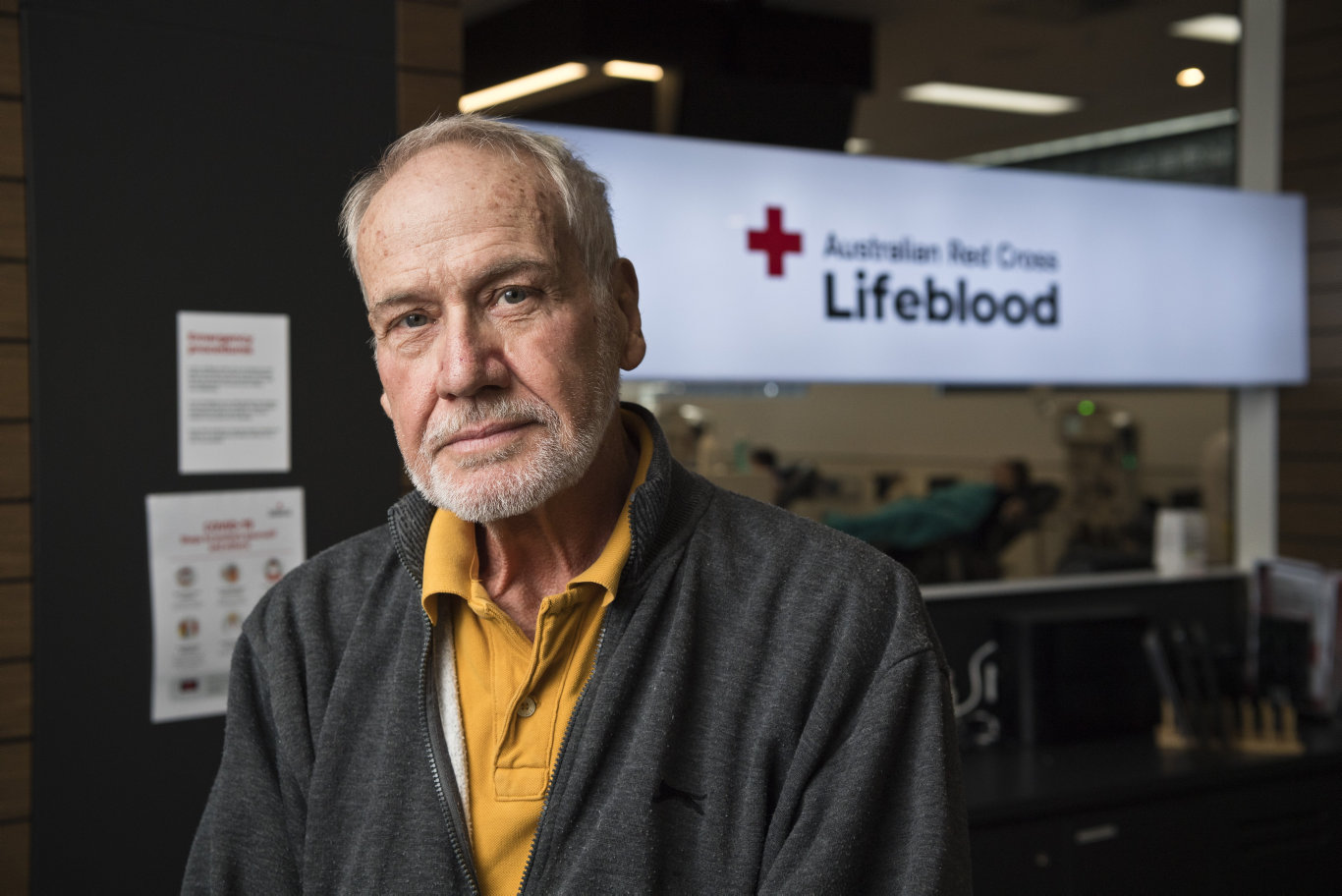 Former Toowoomba magistrate Alan Yorkston is part of a Lifeblood convalescent plasma collection program for people who have recovered from coronavirus COVID-19, Tuesday, May 19, 2020. Picture: Kevin Farmer