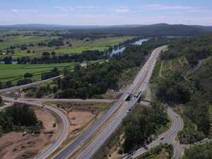 Aerial view of new Pacific Highway section