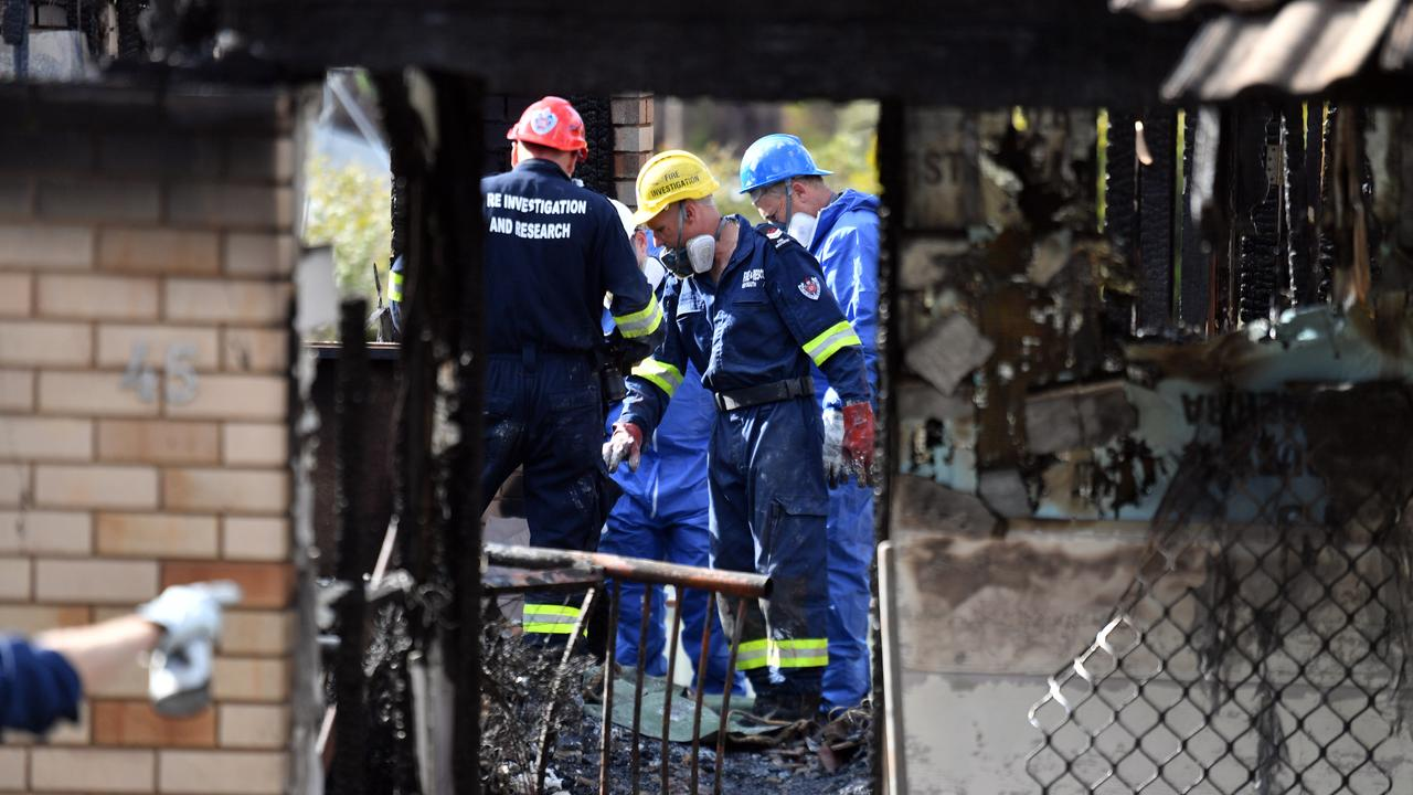 The charred remains of the home at Batlow. Picture: Mick Tsikas/AAP