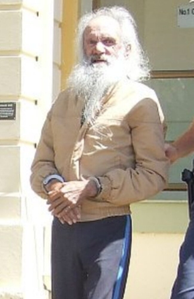 Steven Paul Barney pictured in 2008, being led from Maryborough Magistrates Court. Picture: NRM