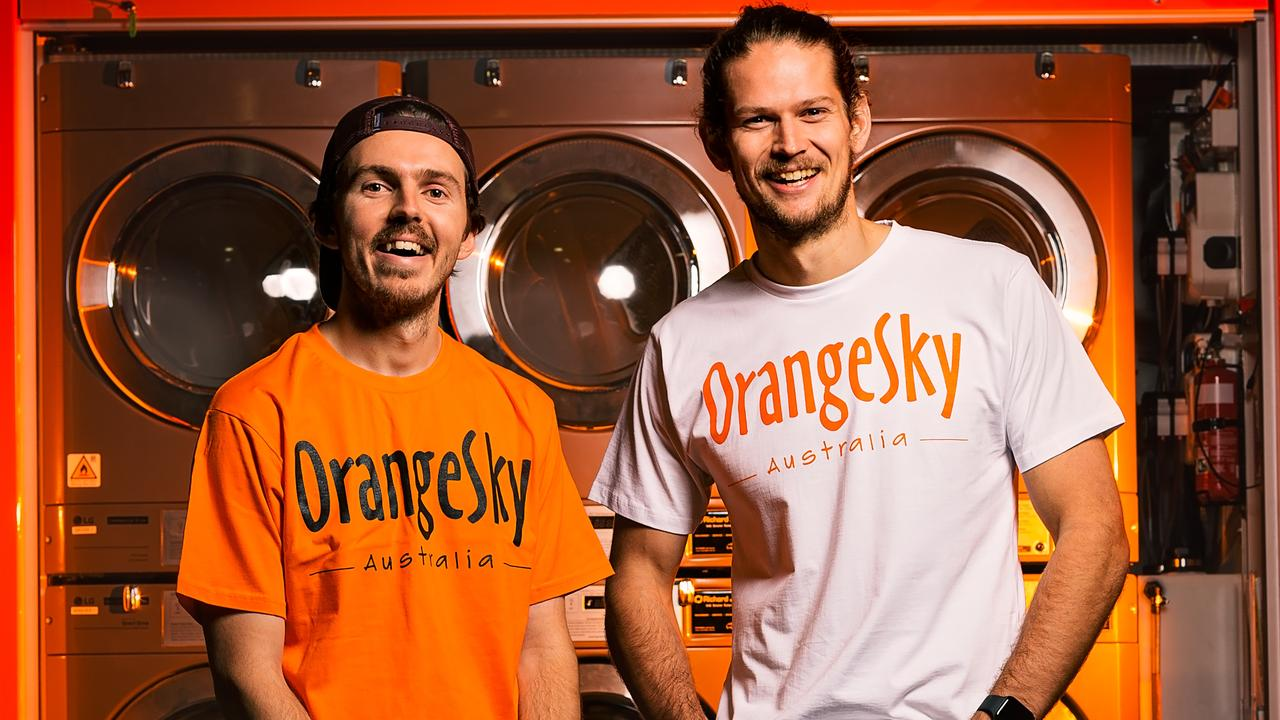 Orange Sky co-founders Nic Marchesi and Lucas Patchett. Picture: Contributed