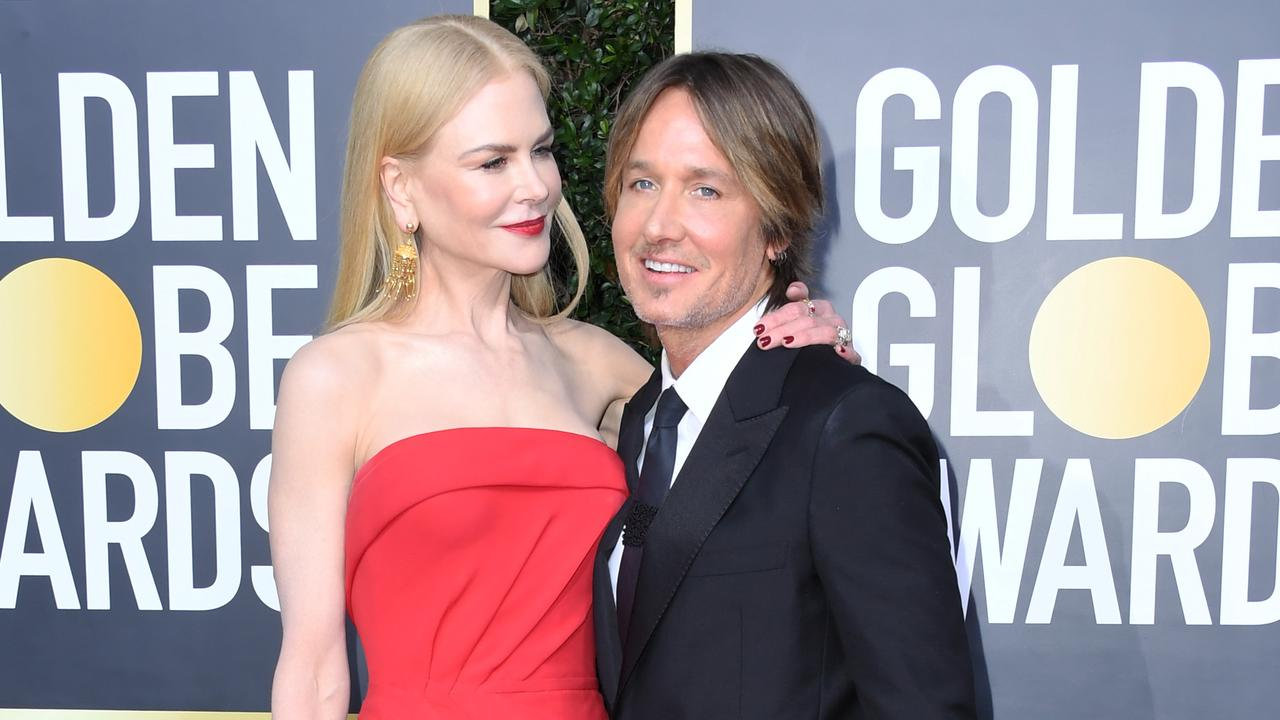 Nicole Kidman and Keith Urban attend the 77th Annual Golden Globe Awards. Picture: Getty Images.