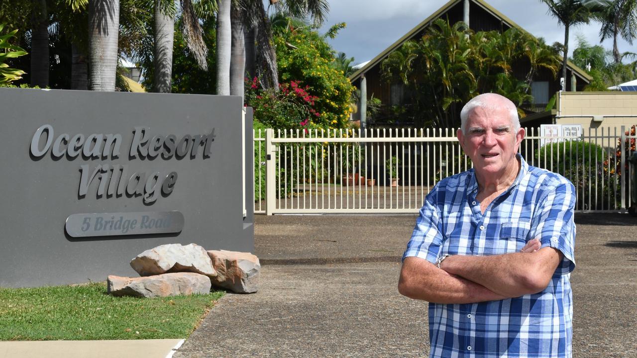 Garth Morgan outside the Ocean Resort Village. Picture: Tony Martin