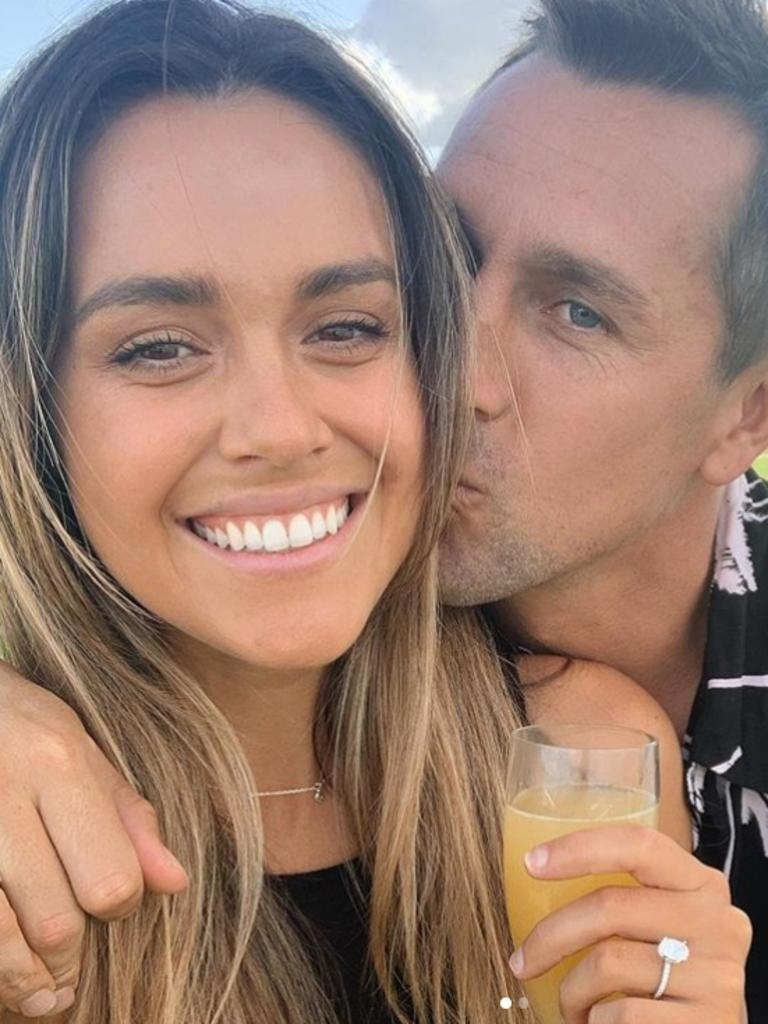 Newcastle Knights captain Mitchell Pearce and Kristin Scott are engaged.