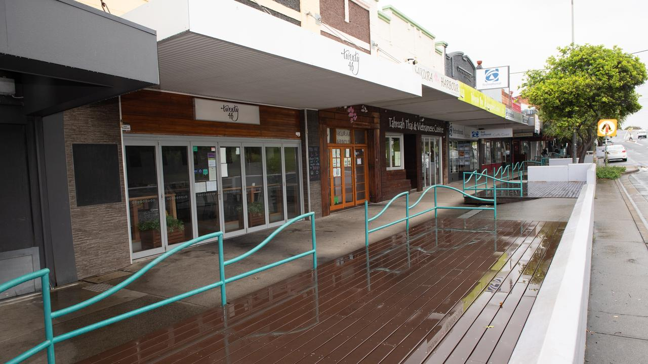 Normally a busy strip, cafes along the Jetty Strip have been closed in recent months due to Covid-19.