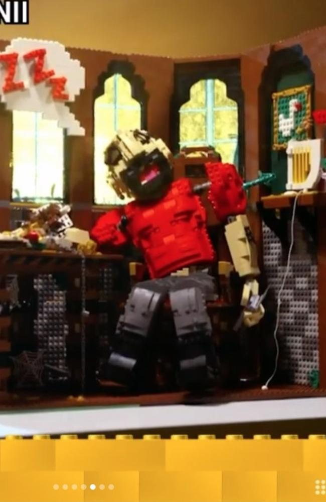 Brickman had commented that he wasn't sure they'd be able to pull off the idea – but it worked. Picture: Lego Masters/Channel 9