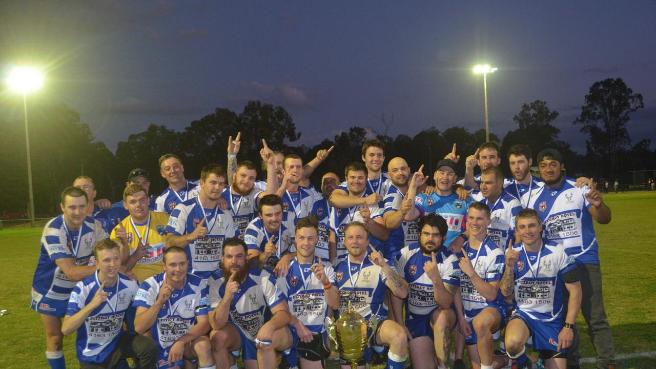 GRAND FINAL: The 2018 premiership Nanango Stags rugby league team. (Picture: File)