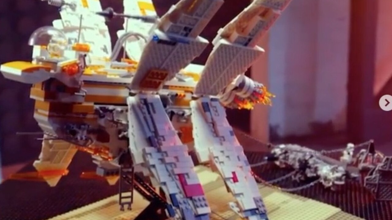 Star Wars fans were blown away by the impressive structure. Picture: Lego Masters/Channel 9