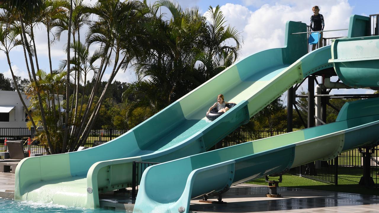 Kids enjoying the slide at Rivershore. Photo: Warren Lynam
