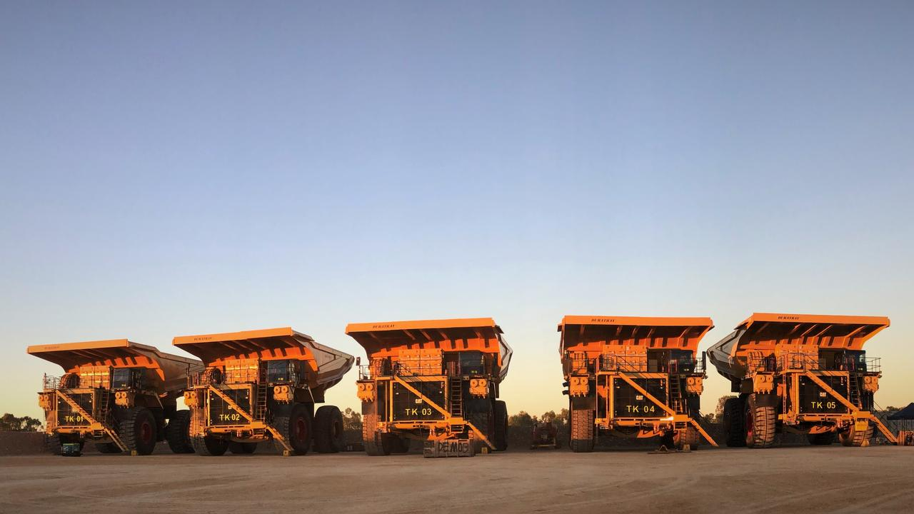 ROLLING ON: Adani Australia has shown off some their heavy machinery as they work towards establishing their Carmichael mine and rail project.