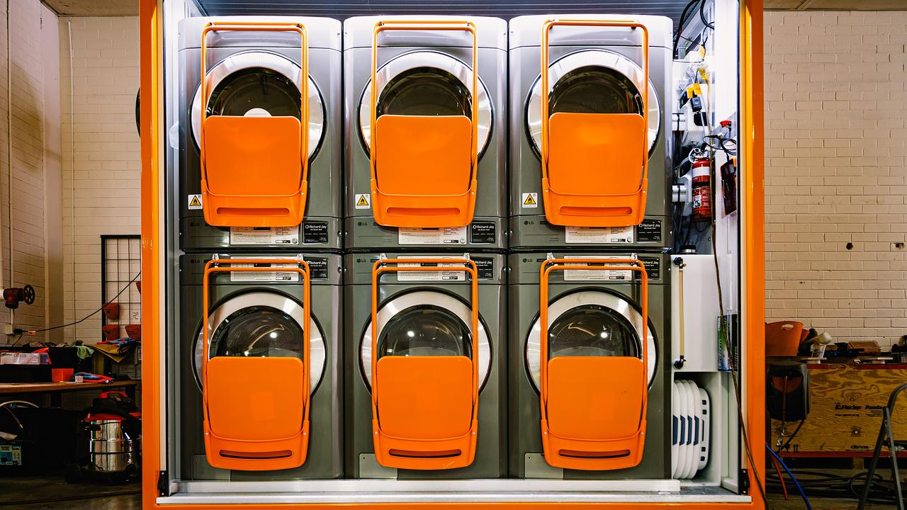 Orange Sky's laundry pod innovation. Picture: Contributed
