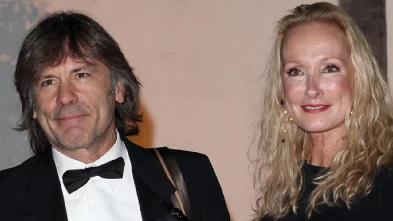 Iron Maiden frontman Bruce Dickinson and his estranged wife Paddy Bowden. Picture: Getty Images