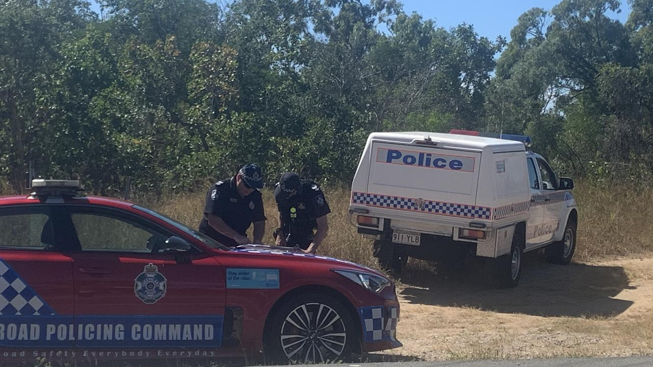 'BODY' FOUND: Police established a crime scene until specialist forensic officers arrived at the location and determined the wrapped body was a lifelike sex doll. Photo: Anna Wall.