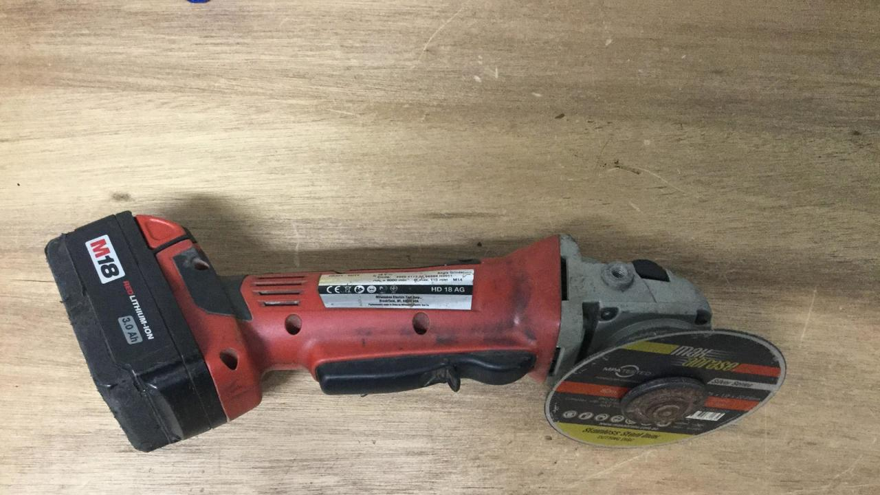 POWER TOOLS: A Milwaukee branded angle grinder, cordless drill and a Ryobi branded cordless pruner have been seized by Bowen Police, who are now searching for their owners.