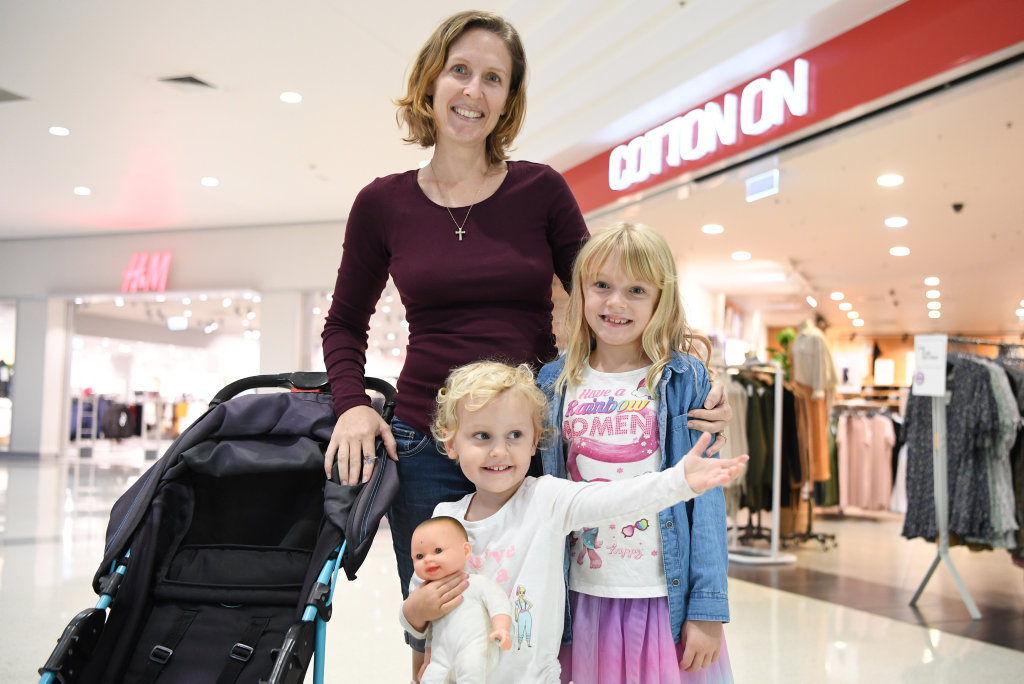 Image for sale: Mireya, Jessica and Alicia Bell shop for winter clothes at Stockland
