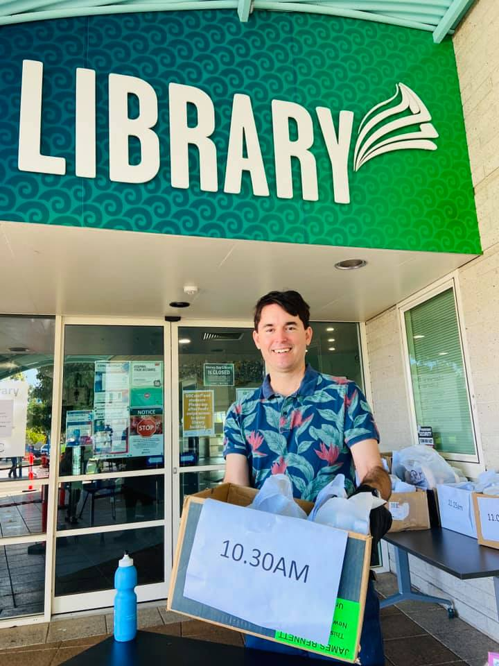 Fraser Coast Mayor George Seymour is encouraging people to use the library's click and collect service.