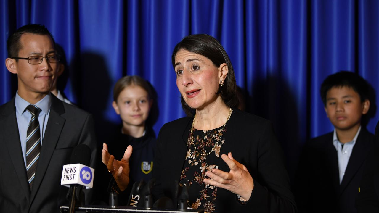 NSW Premier Gladys Berejiklian has pushed for a safe return to school. Picture: AAP Image/Joel Carrett