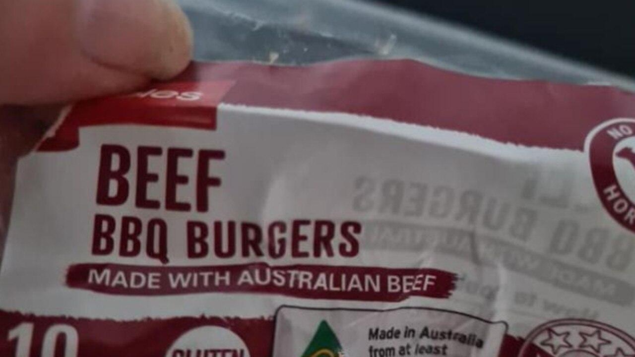 Coles shopper roasted over burger gripe