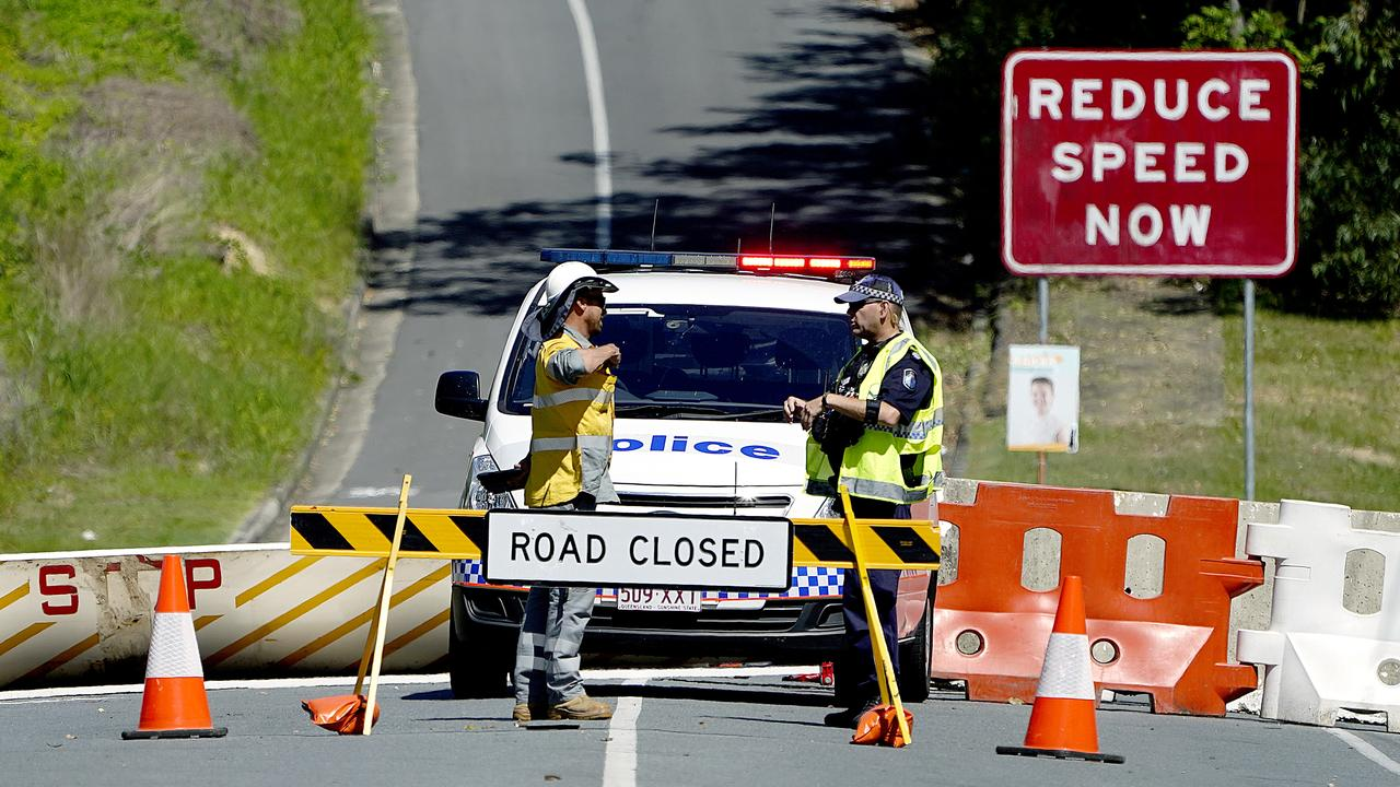 Police patrolling the main highway routes to the north, so Queenslanders could come across into NSW, but they needed to apply for a pass to get back home.