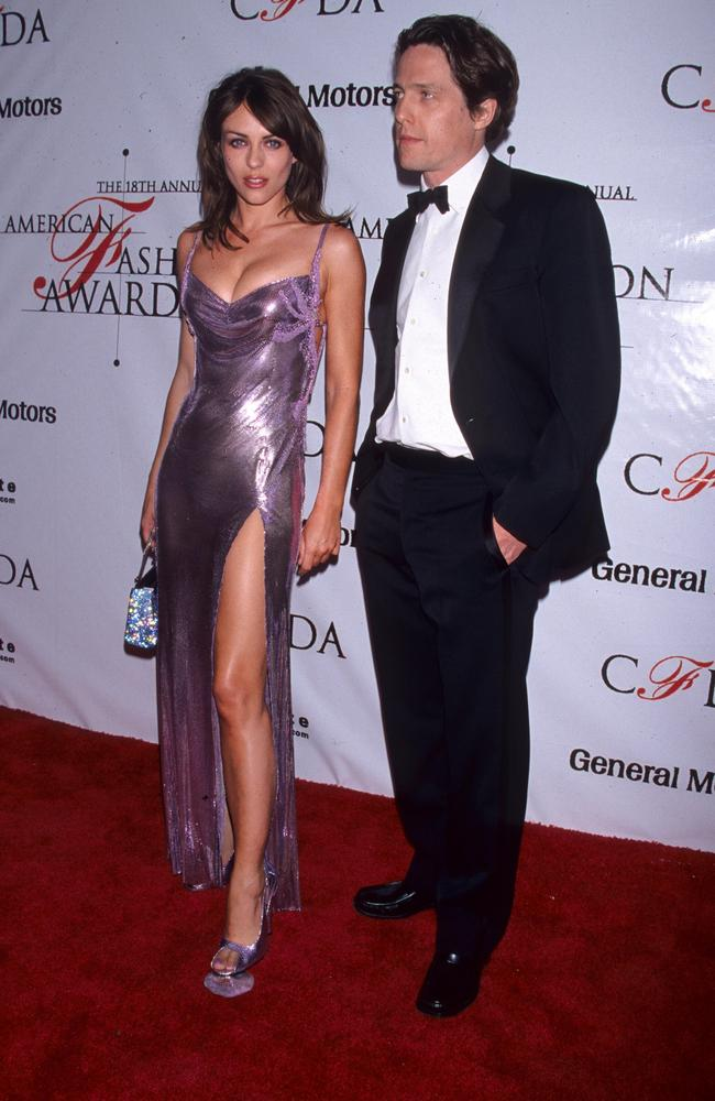 Liz Hurley and Hugh Grant at the 1999 CFDA Awards. Picture: Jim Spellman/WireImage