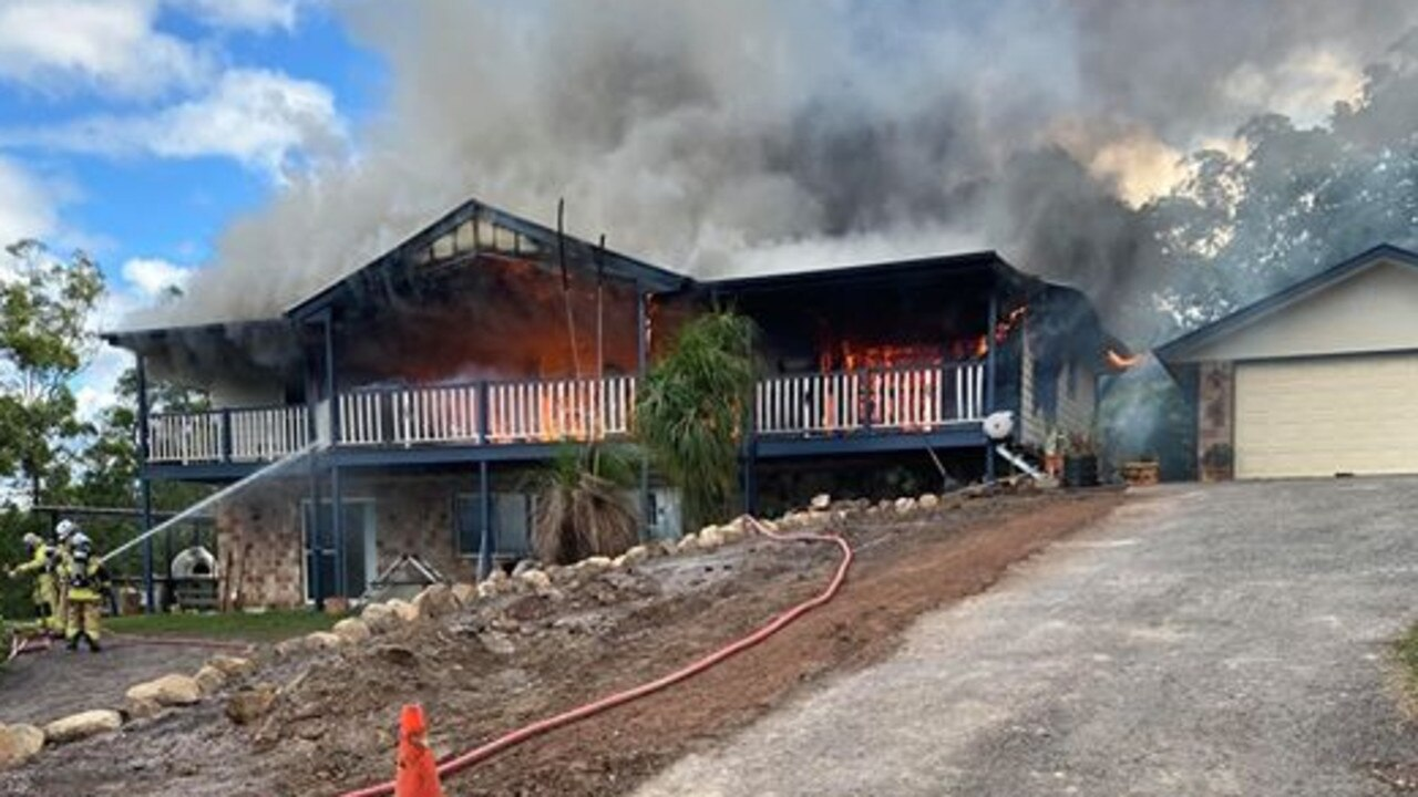 The Bli Bli home was completely gutted when it was engulfed in flames.