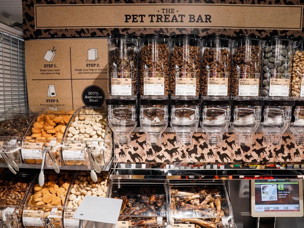There's even a pick and mix treat section for dogs. Picture: Hanna Lassen/Getty Images for Coles
