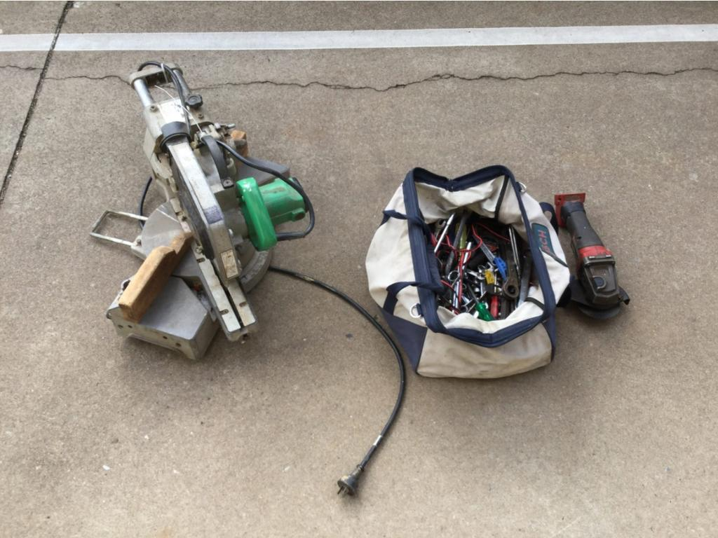 Some of the items allegedly seized during a search of a Maryborough property. PHOTO: Contributed.
