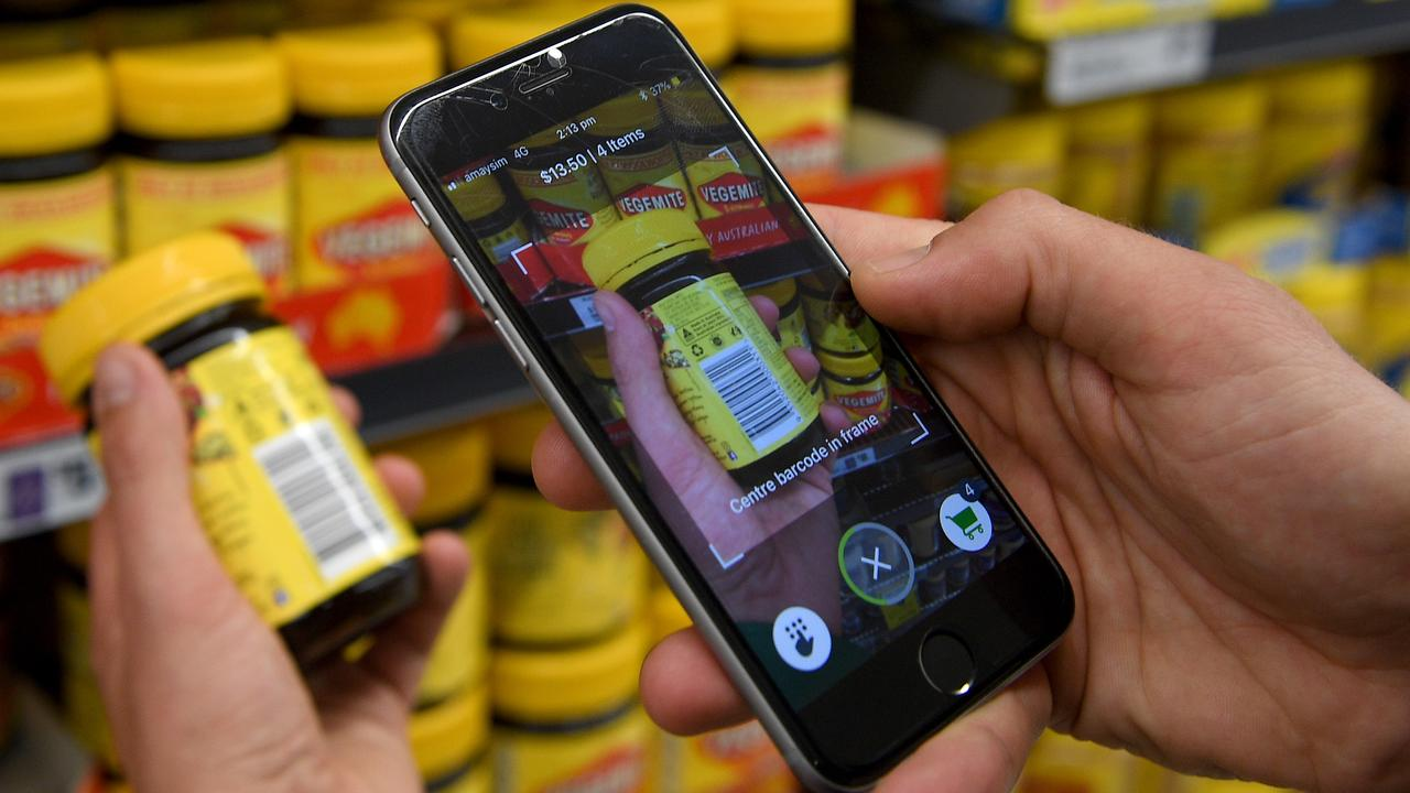 Woolworths first trialled Scan&Go in their Double Bay store in Sydney in September 2018. Picture: Dan Himbrechts/AAP
