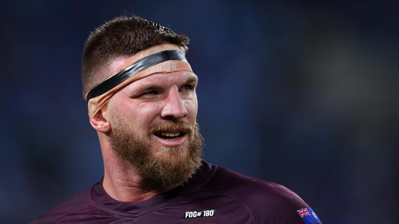 Could Carrigan replace Josh McGuire for the Maroons? Picture: Getty Images.