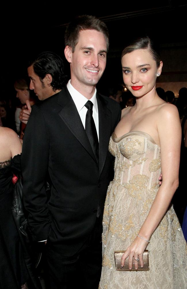 Model Miranda Kerr and husband Evan Spiegel. Picture: Getty