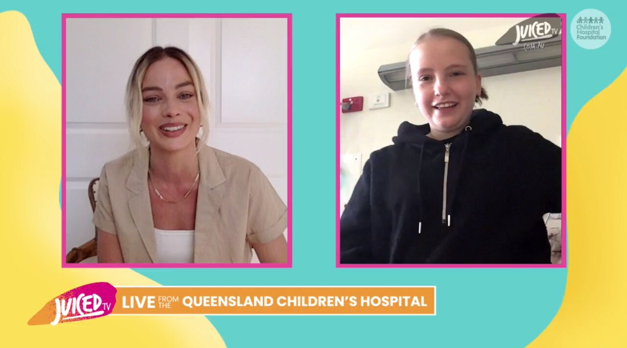 Hollywood superstar Margot Robbie has dropped in for a virtual visit to six very special Queenslanders.