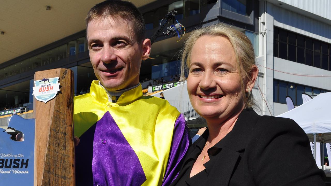 Olivia Cairns (Right) will be the only Mackay trainer at the ownsville race meeting tomorrow because of a successful gamble she made.
