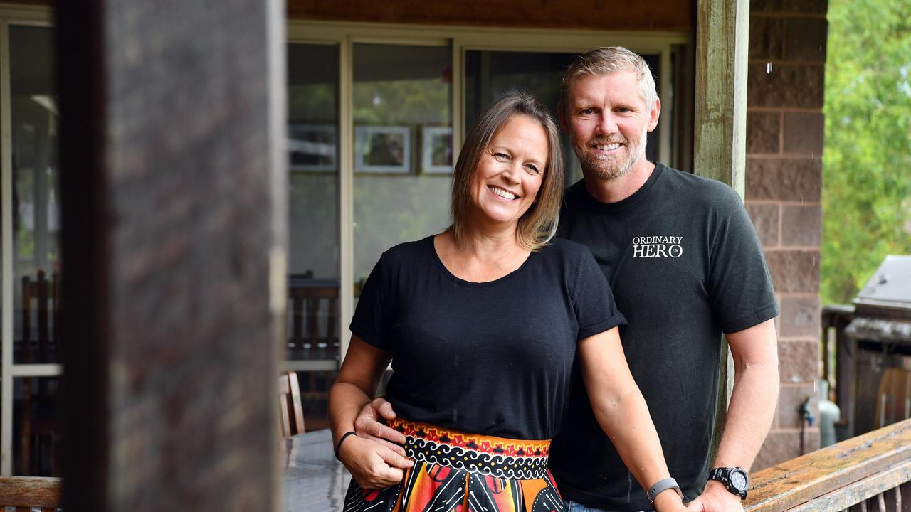 Ugandan missionaries Janine and Craig Robinson relax at the home of their hosts, Chris and Glenys Foley, in Maryborough. Photo: Alistair Brightman