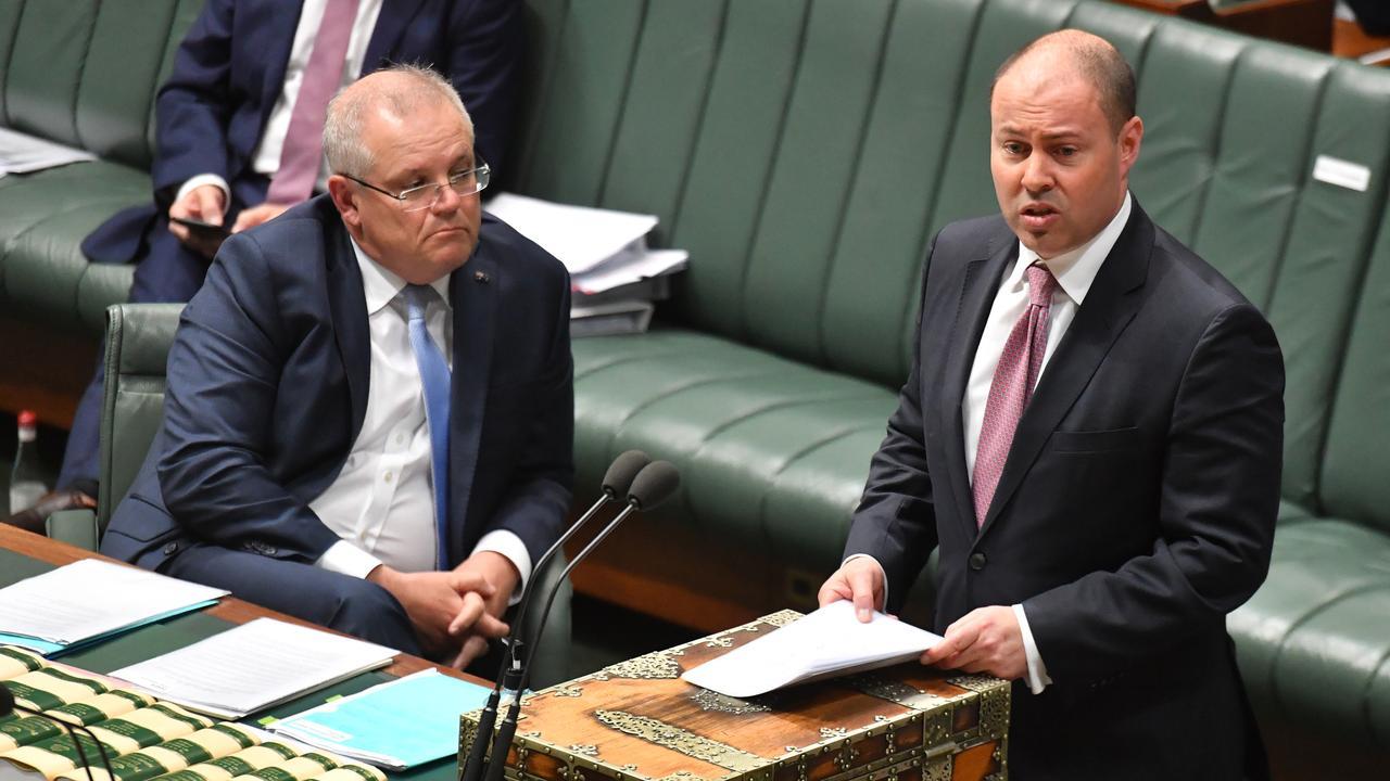 Prime Minister Scott Morrison and Treasurer Josh Frydenberg last week. Picture: Mick Tsikas/AAP