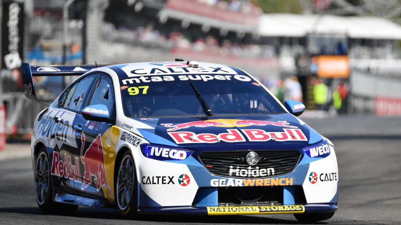 Shane van Gisbergen from Team Triple Eight during the Superloop Adelaide 500 at the Adelaide Street Circuit in Adelaide, Sunday, February 23, 2020. (AAP Image/David Mariuz) NO ARCHIVING