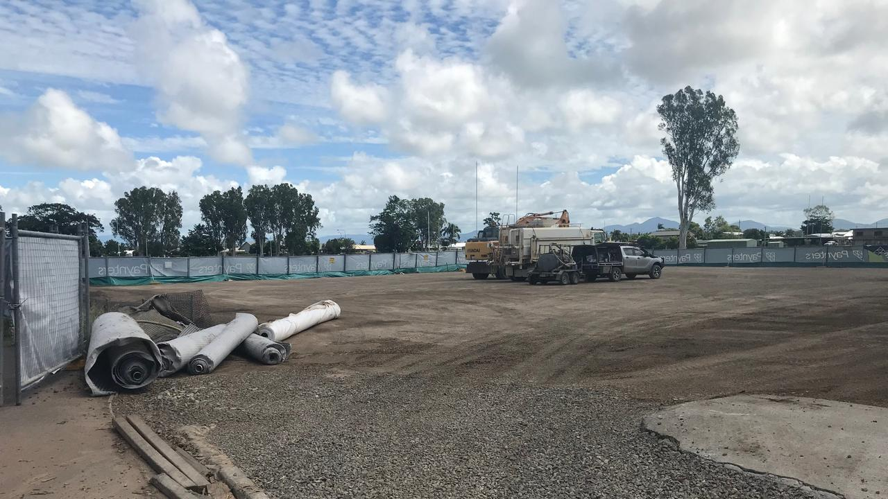 Works are still powering ahead on a new multipurpose performing arts centre at Proserpine State High School, despite the global pandemic.