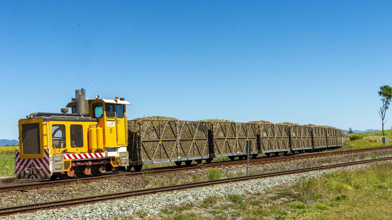 Sugarcane train at Proserpine Picture: Wilmar Australia
