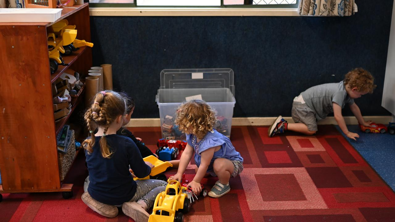 If 'free' childcare is killed off, hundreds of childcare centres across the country will die too. Picture: AAP Image/Dean Lewins