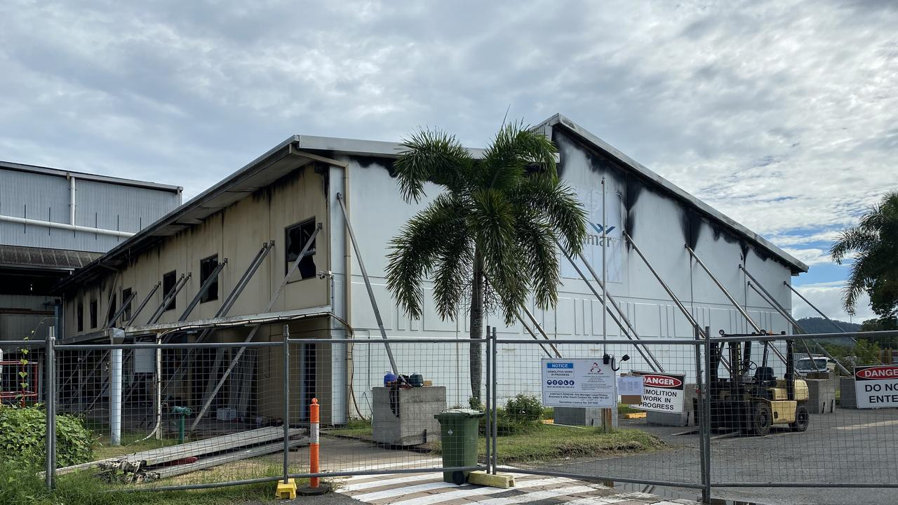 The Proserpine Mill stores building after it was destroyed by fire on January 10. Picture: Wilmar Sugar