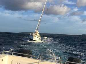 Yacht rescued after fuel problems in rough conditions