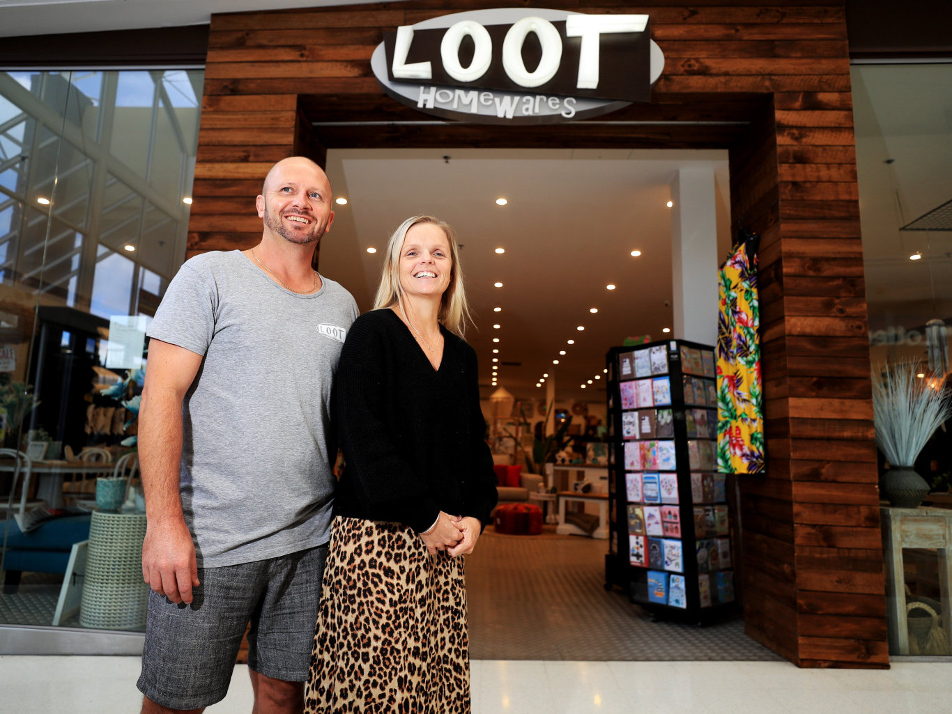 Michael and Natasha Pedlow from Loot at Tweed MallPhoto Scott Powick Newscorp