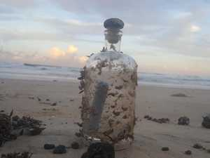 Barnacle-covered bottle could have made 14,000km trip here
